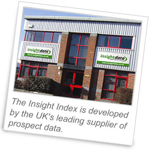 The Insight Index is developed by the UK's leading supplier of prospect data